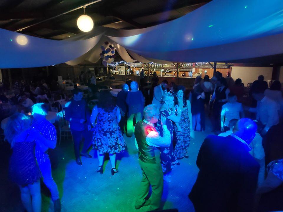 Wedding disco at Court farm, Banwell
