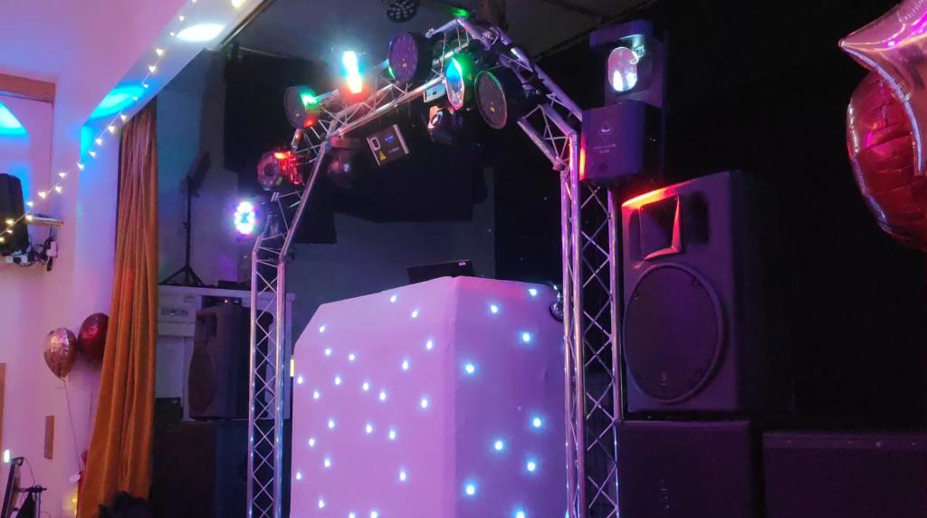 Cossing village hall wedding DJ